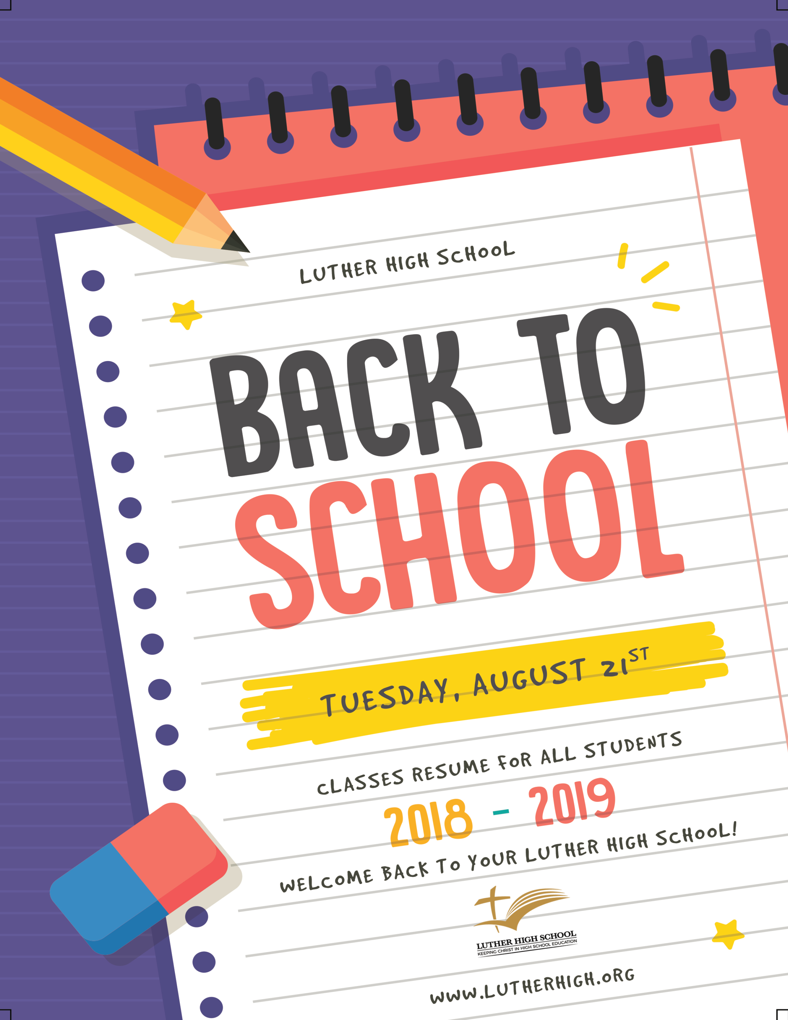 Classes Start for the 2018-19 School Year